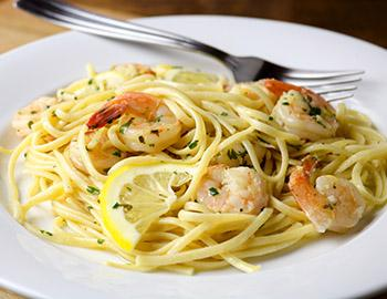 Shrimp Scampi at an Italian Restaurant