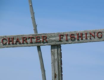 Fishing charters sign