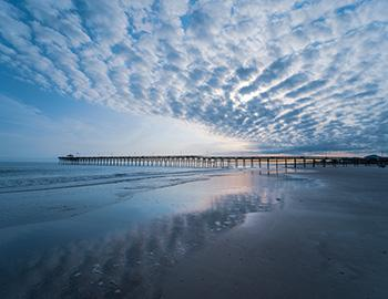 The Oak Island Pier in North Carolina