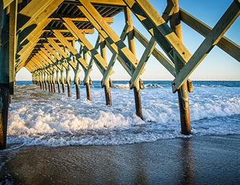 The Ocean Crest Pier in North Carolina