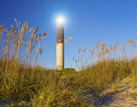 The lighthouse at Caswell Beach in NC