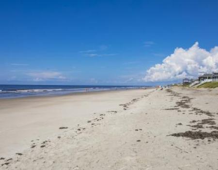 The beach at Oak Island, NC