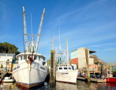 Fishing boats in Southport, NC