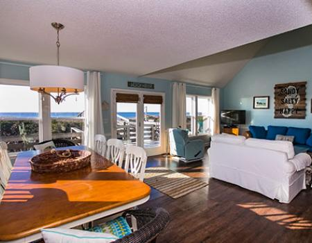 Interior of a beautiful Caswell Beach vacation home