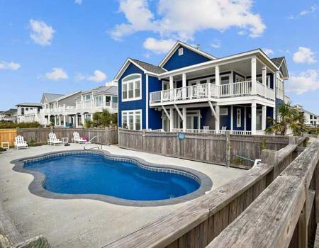 Oak Island rental with a pool
