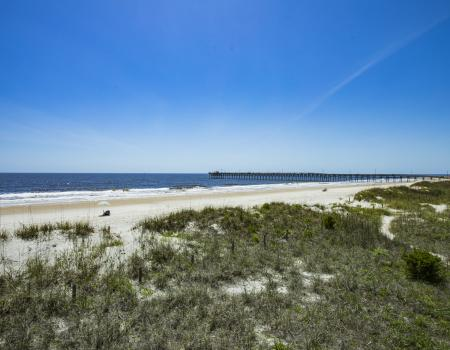 The beach at Oak Island