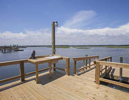 Vacation rental with a dock at Oak Island