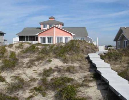 An Oak Island beachfront home managed by Margarett Rudd