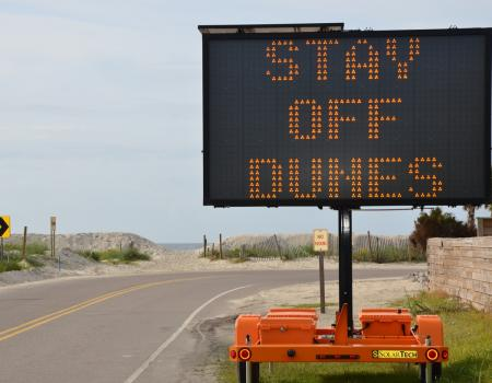 Stay Off Dune Sign