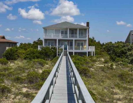 Vacation rental home on Oak Island
