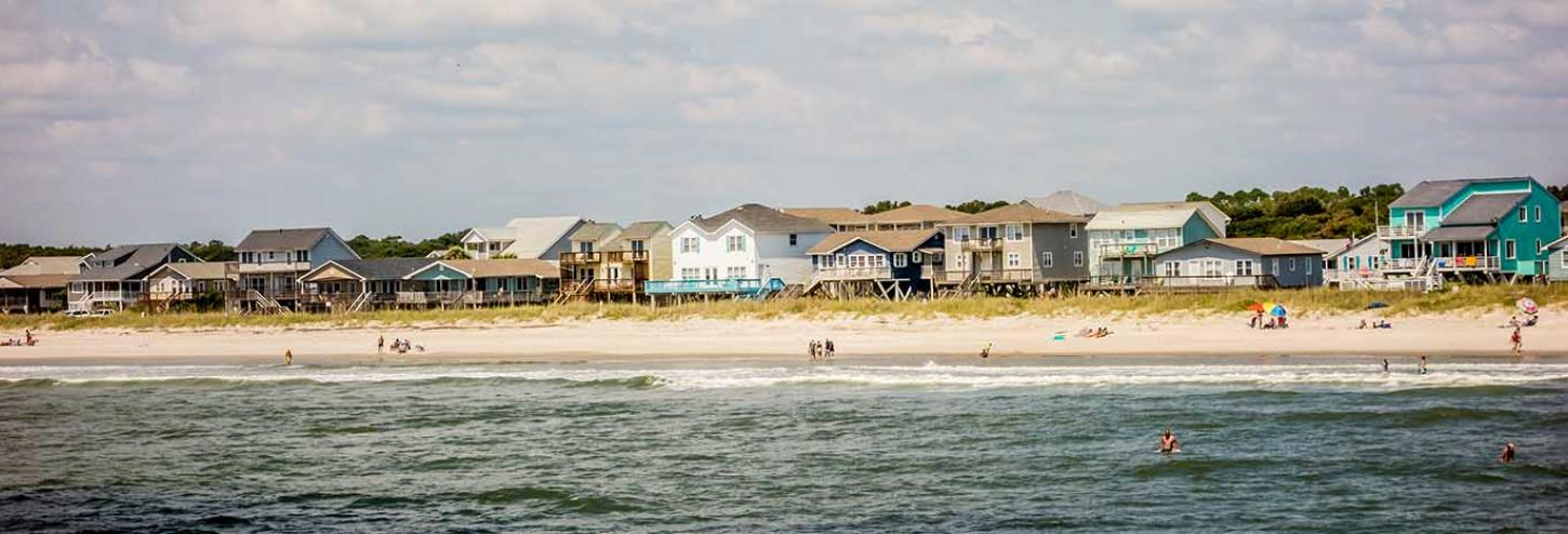 View of the Ocean from an Oak Island vacation rental