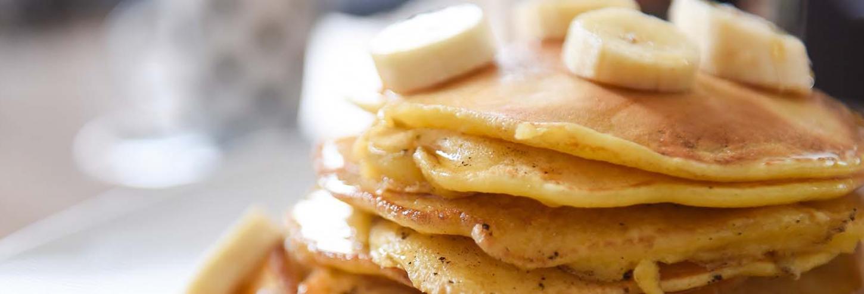 Fresh flapjack pancake stack