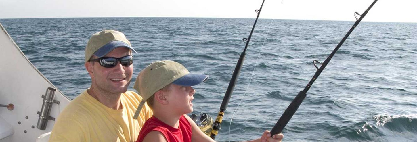 Fishing charter out on the water
