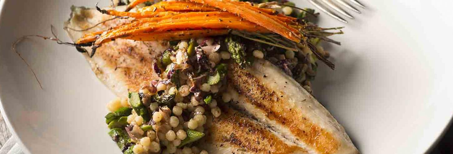Fish with cous cous