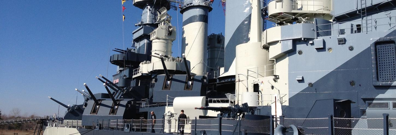 Famous battleship in North Carolina