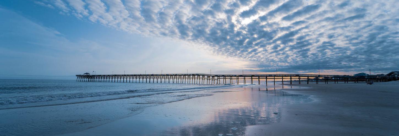 The pier at Oak Island in North Carolina