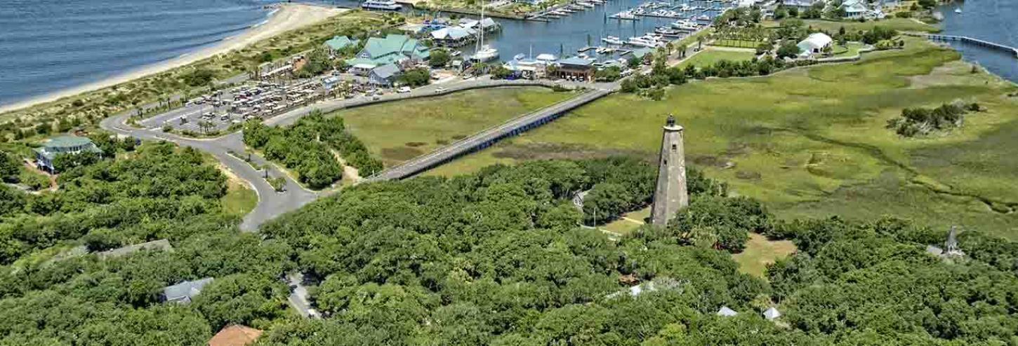 Ariel view of Old Baldy Lighthouse