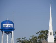Southport water tower in North Carolina