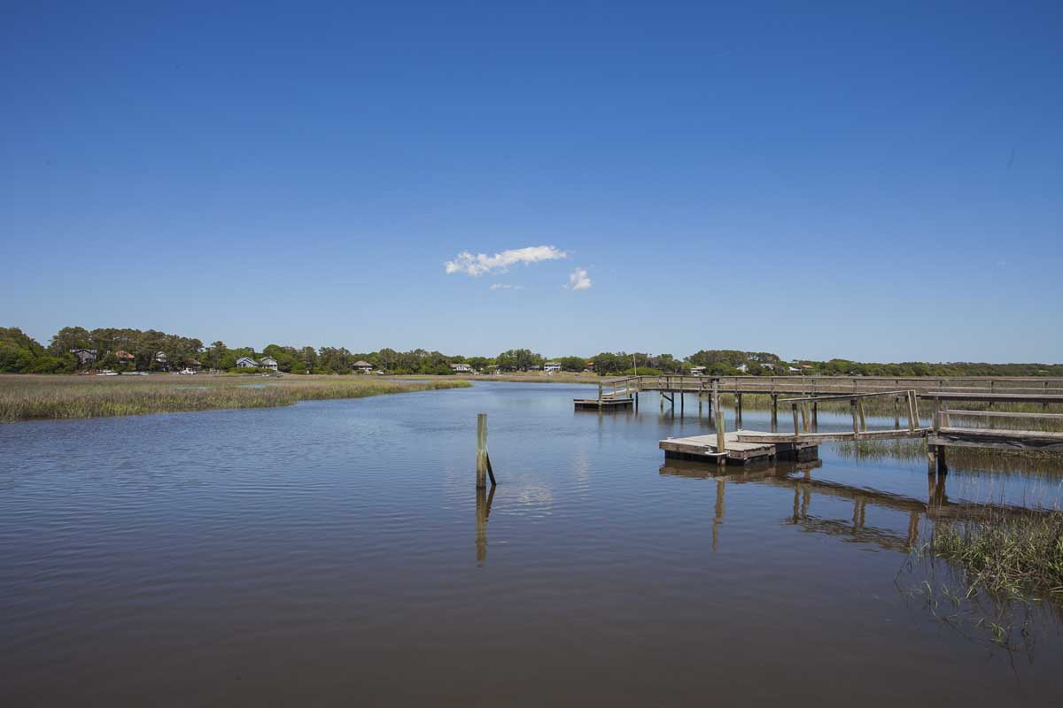 View from the dock at a Oak Island vacation rentals