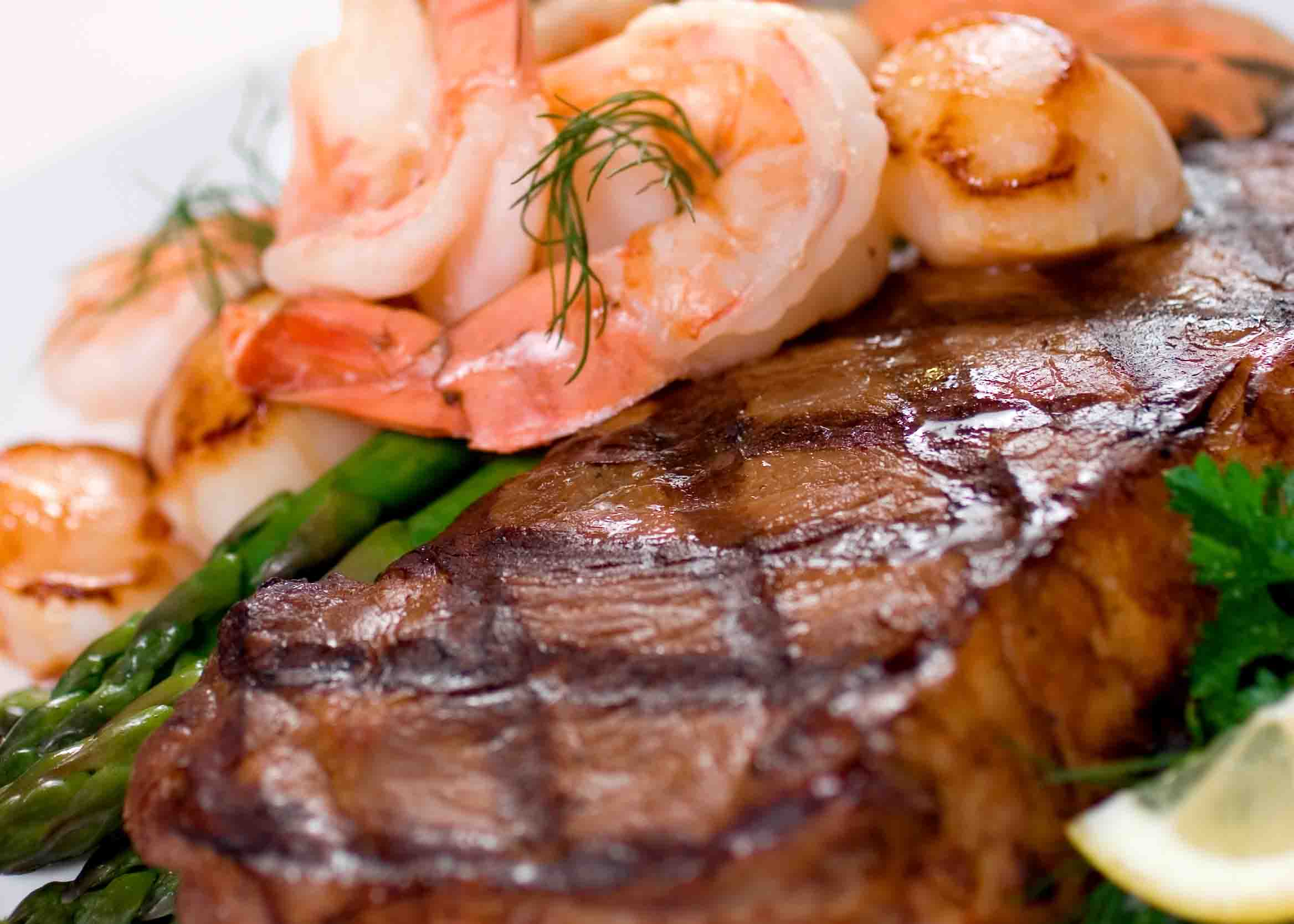 Surf and turf meal