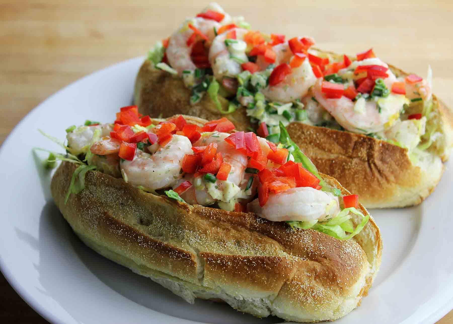 Shrimp roll sandwich