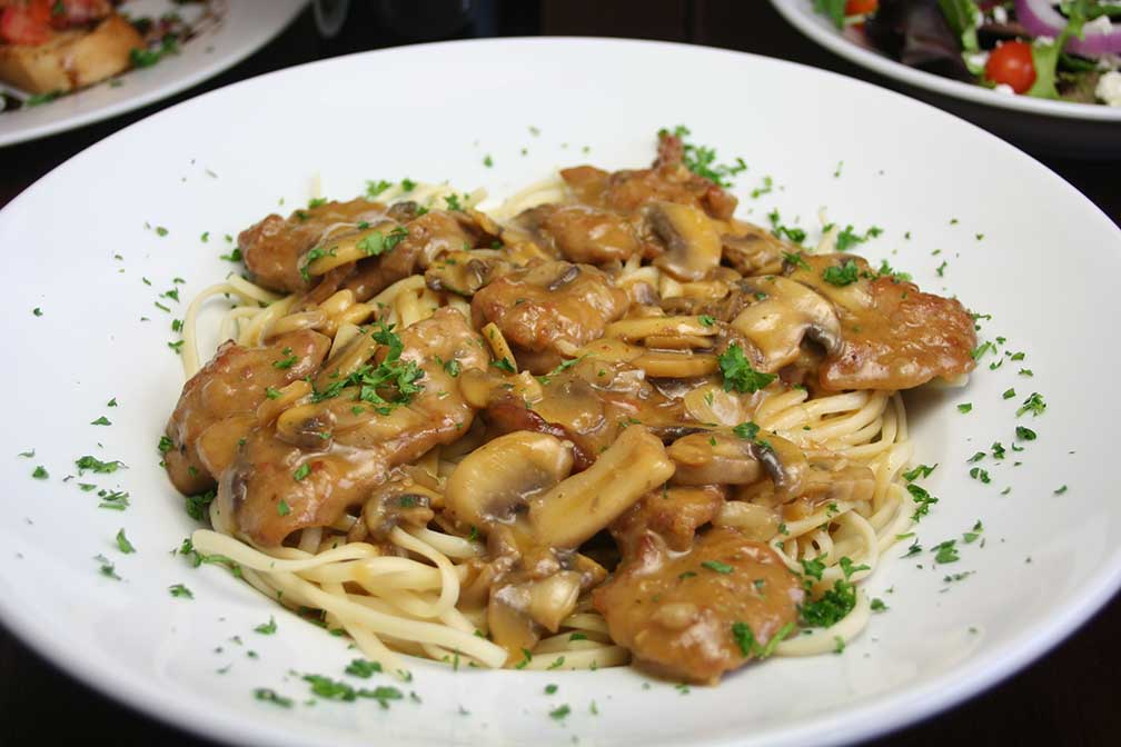 Chicken Marsala from an Italian restaurant