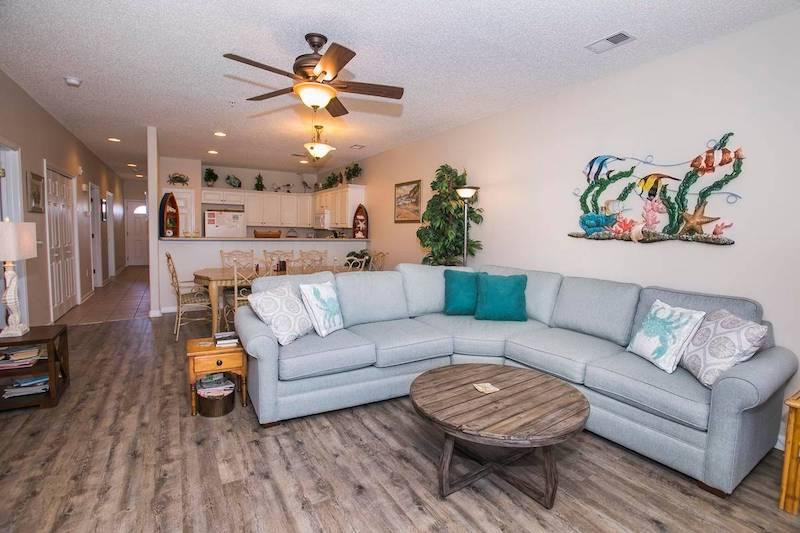 An Oak Island vacation rental living room