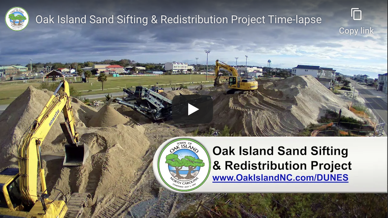 oak island nc sand sifting & redistribution project time lapse