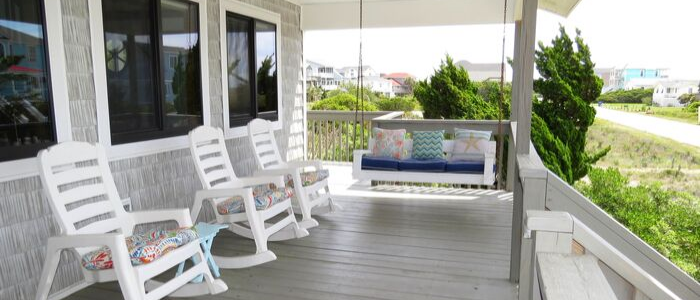 Summer Settings at Palms Away Oak Island Vacation Rental