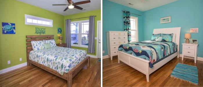 Tropical Trimmings in Soak Up The Sun Oak Island Vacation Rental