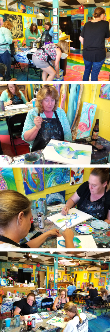 Pescado Y Amor Private Paint Party on Oak Island
